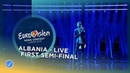 Eugent Bushpepa - Mall - Albania - LIVE - First Semi-Final - Eurovision 2018