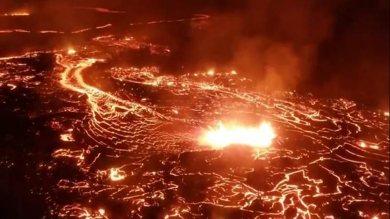 Лавовое поле вулкана Килауэа (Гавайи, 31 июля 2018).