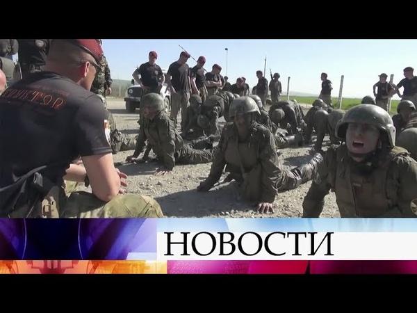 На полигоне в Чечне спецназовцы Росгвардии сразились за право носить краповый берет