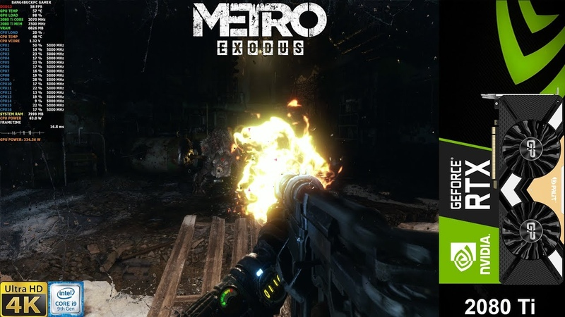 Metro Exodus Extreme Settings , Ultra Ray Tracing DLSS 4K | RTX 2080 Ti | i9 9900K 5GHz