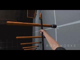 Паркур на ломиках в виртуальной реальности (Boneworks)