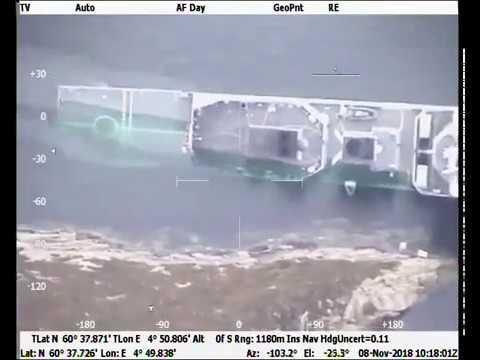 Фрегат ВМС Норвегии не затонул,он просто прячется под водой