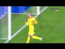 Le but d'Houssem Aouar qui permet à l'Equipe de France de mener 1-0 contre le Luxembourg.