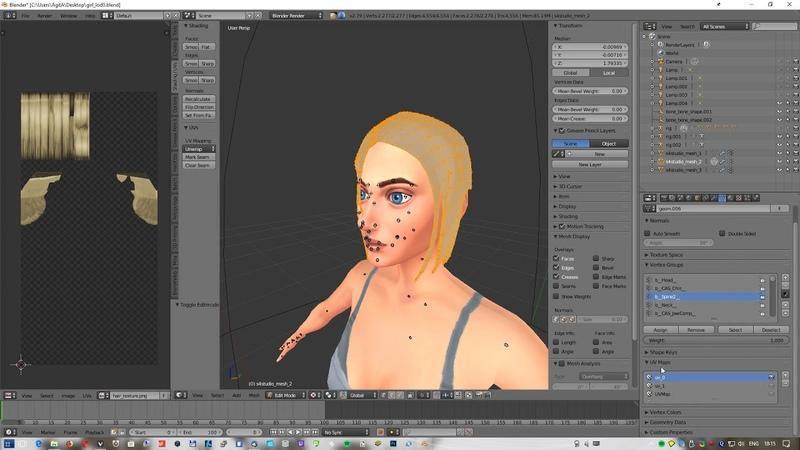 Прическа для Sims4 в Blender и Sims4Studio