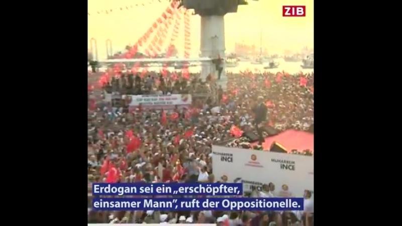 Hunderttausende gegen Erdogan