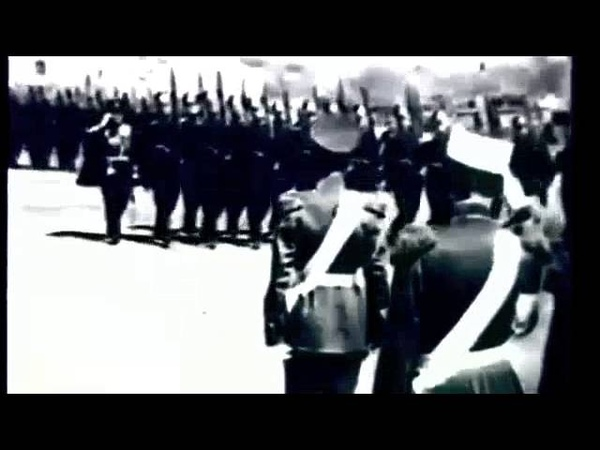 1912, Москва, открытие памятника Императору России - Александру-3, парад войск принимает Николай-2