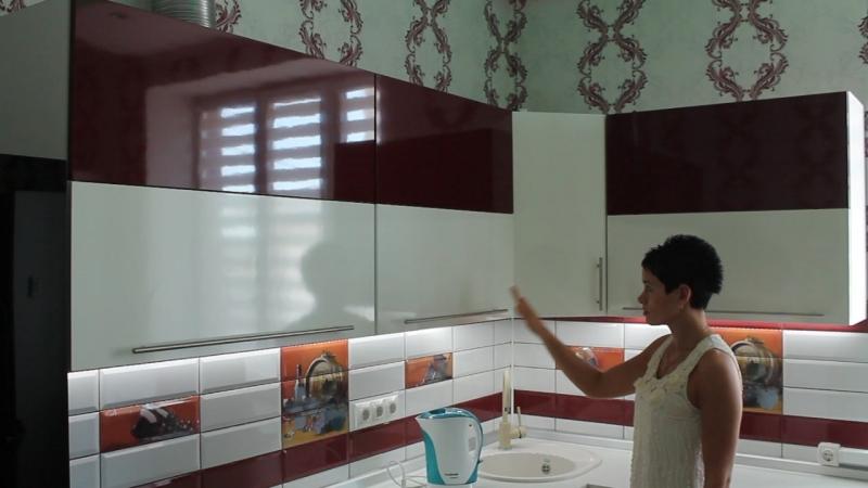 Кухня с электрической системой открывания Servo Drive от Blum