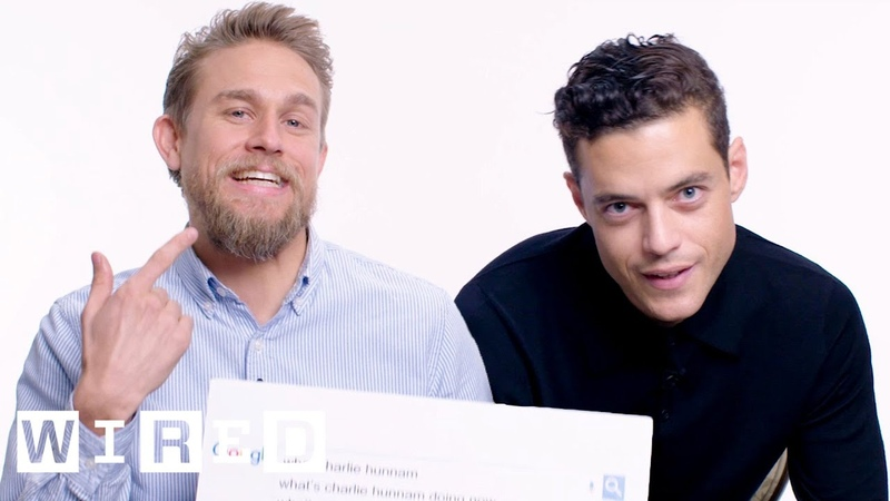 Rami Malek Charlie Hunnam Answer the Web's Most Searched Questions WIRED