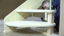 Сборка и монтаж деревянной винтовой лестницы на 2 этаж дома ЛЕС 1,2ВУ