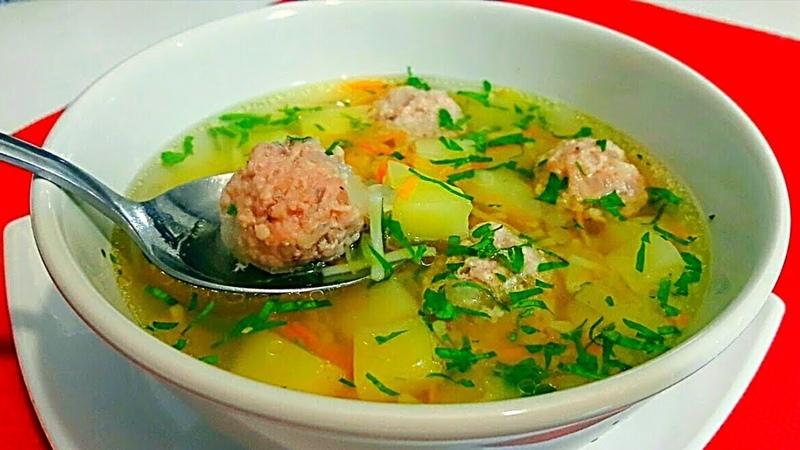 Легкий Суп с Фрикадельками за 20 минут Для Восстановления Сил / Очень Вкусный Быстрый Супчик