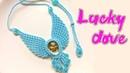 Let this macrame dove bring luck to you - The pigeon necklace tutorial - vòng cổ chim bồ câu