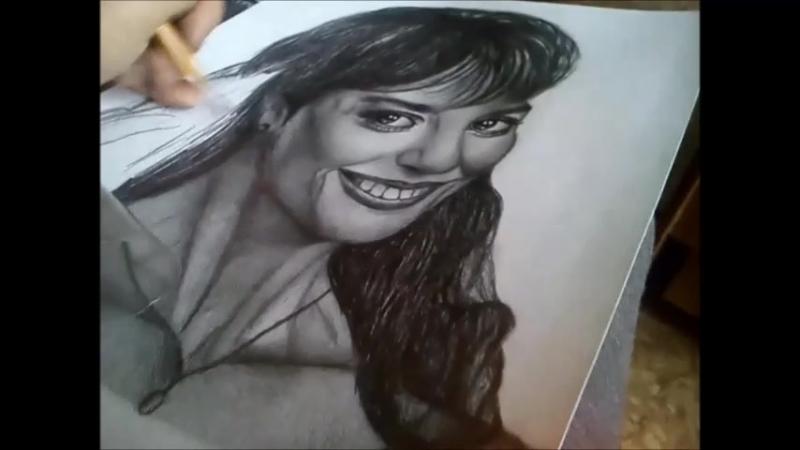 Портрет простым карандашом Рэйчел Уорд