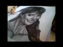 Портрет простым карандашом. Рэйчел Уорд.