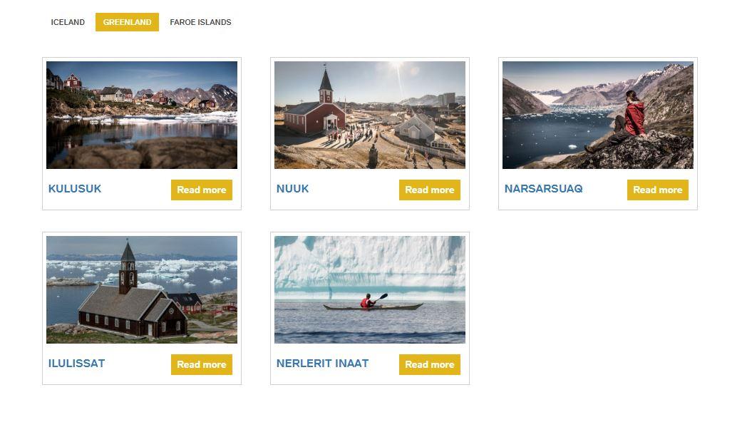Инфографика: маршрутная сеть Air Iceland Connect в Гренландии