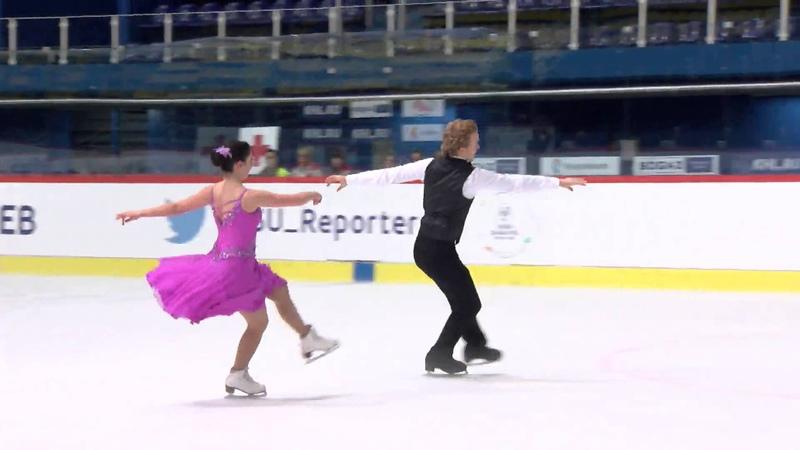 2015 ISU Junior Grand Prix - Zagreb Short Dance Audrey CROTEAU-VILLENEUVE / Jeff HOUGH CAN