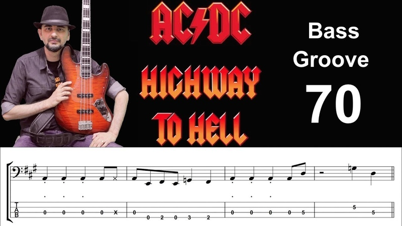 HIGHWAY TO HELL (AC/DC) How to Play Bass Groove Cover with Score Tab Lesson