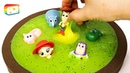 ♪ Kid Songs   DIY How to make Swimming Pool Kinetic Sand Slime Kiwi with toy story
