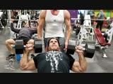 Jay Cutler Trains Chest & Delts