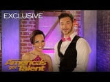 Dancers Quin and Misha Relive Their AGT Audition - America's Got Talent 2018