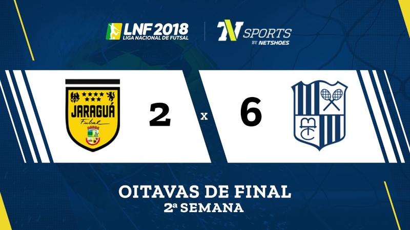 LNF2018 Jaraguá 2 x 6 Minas Gols Oitavas Volta