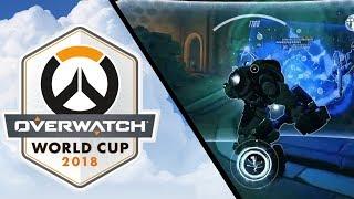 ChrisTFer crazy Reinhardt Earthshatter vs. France [Overwatch World Cup 2018]