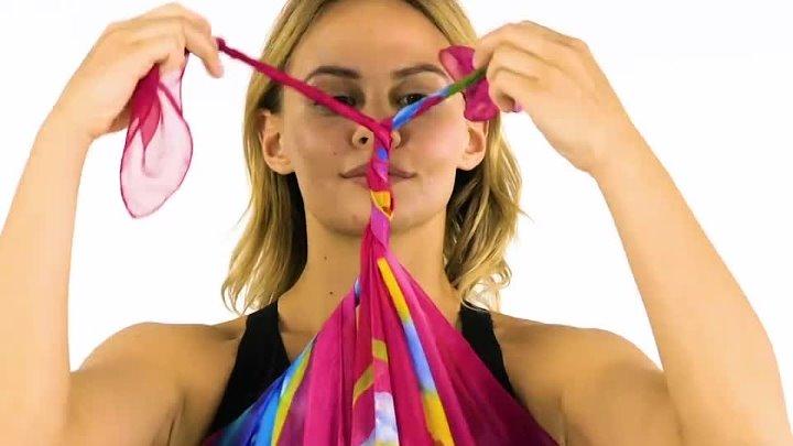 Несколько способов сделать модный пляжный наряд из парео.🍹