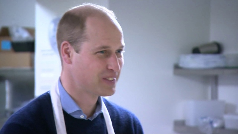 Prince William serves food at homeless charity The Passage