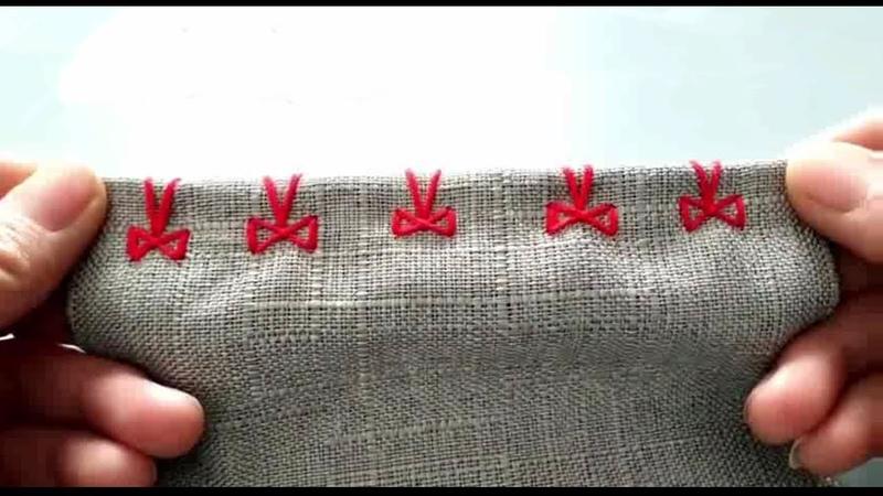 順心愛生活 手縫蝴蝶結針法太漂亮了,慢動作教你,裝飾鎖邊兩種 29992