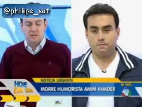 Falsa morte de Amin Khader sendo anunciada ao vivo no Hoje em Dia da Rede Record.flv