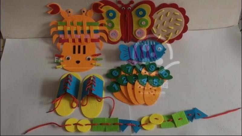 Happyxuan 8 видов конструкций дети Монтессори комплект DIY чувствовал учебных пособий дошкольного материалы детский сад Детские