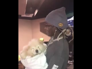 Young thug с псом