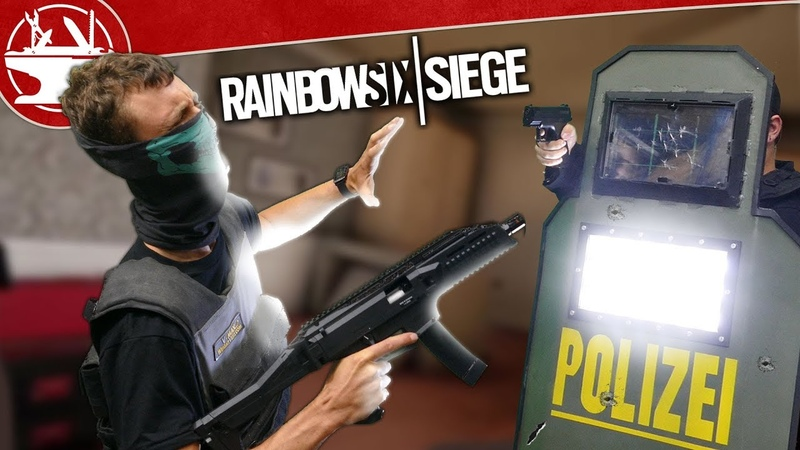 Real Life Blitz Shield is BRIGHTER THAN THE SUN! (from Rainbow Six Siege)