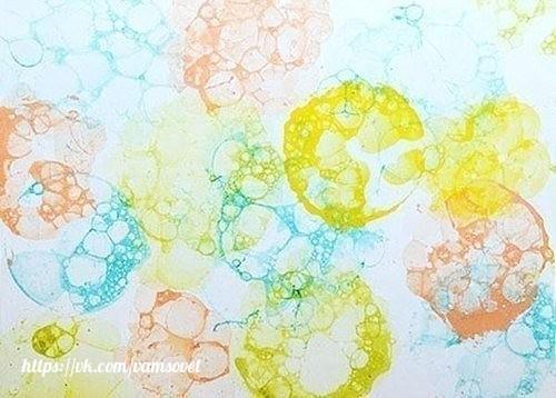 Декор мыльными пузырями