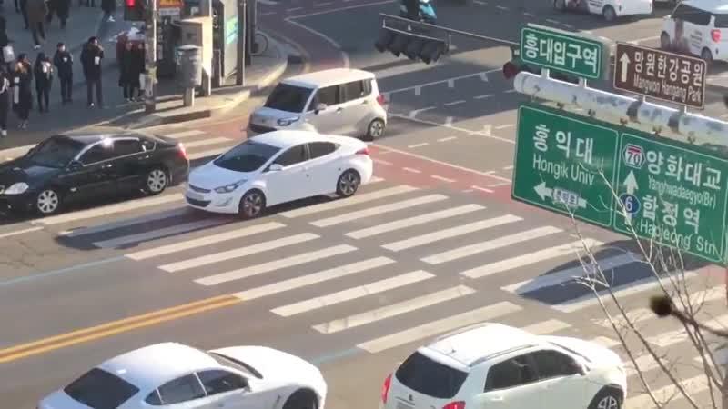 한쪽에서 쪼르르 서잇다 좌회전 하는거 개기야우ㅕ