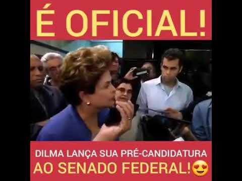 Oficial Dilma se lança pré-candidata ao Senado e vai para cima dos golpistas!