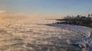 Subzero Chicago temperatures make Lake Michigan look like 'boiling cauldron' · coub, коуб
