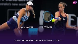 Yulia Putintseva vs. Karolina Pliskova | 2019 Brisbane International Day 1 | WTA Highlights