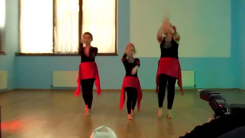 """Катя, Ксюша и Настя - 27 12 15 __ Детская студия танца _""""Орион_"""" (Севастополь) @ Tribal party Созвездие"""
