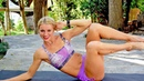 Dumbbell Abs Workout with Fat Burning Cardio Intervals - Intermediate