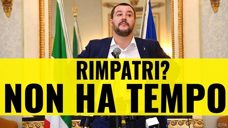 Salvini non ha tempo per espellere i clandestini