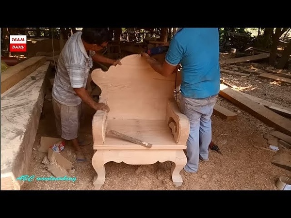 ABC WoodWorking making Big Chair Super Furniture King Chair 2018