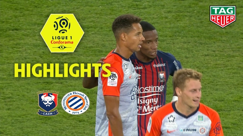 SM Caen - Montpellier Hérault SC ( 2-2 ) - Highlights - (SMC - MHSC) / 2018-19