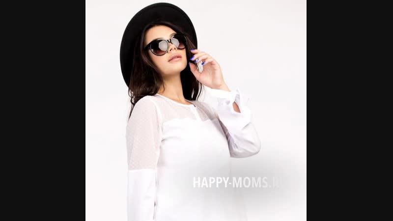 Блузка белая для беременных Happy Moms
