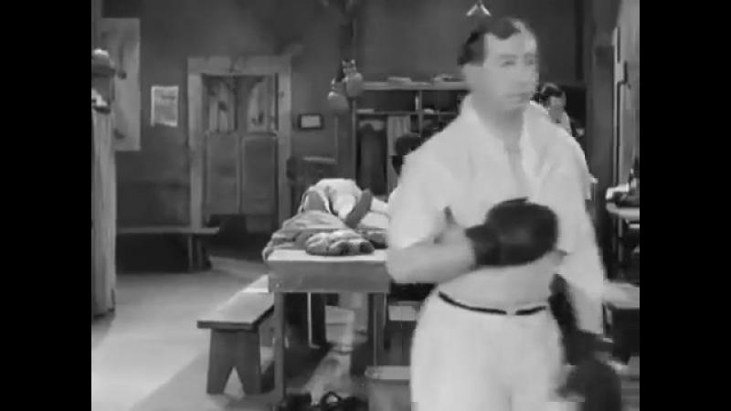 Чарли Чаплин Огни большого города Отрывок Бокс 1931