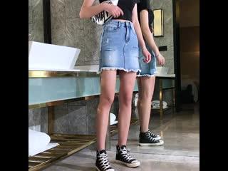 Blue women jeans skirts 101