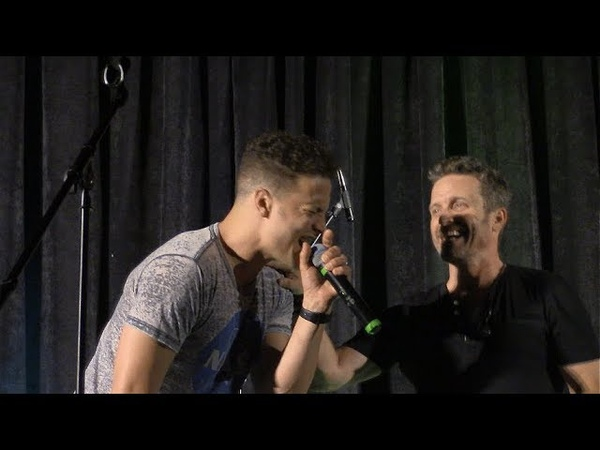 SpnPitt Rob Benedict, Justin Guarini, Louden Swain Friends Sings Let Love Rule SNS 2018