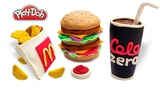Play Doh Mcdonald's. How to make Play Doh Food Menu Mcdonalds. Video for Kids. DIY for Kids