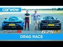 McLaren 720S v 675LT DRAG RACE, ROLLING RACE BRAKE TEST | Mat vs Shmee pt 1/4