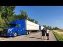 ДальнобойUSA Встреча с Данилой Danco Transport Замена передних колес