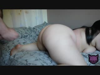 Муж трахает толстую жену дома на кровати, old mature milf plump fat ass big tits sex bbw pussy (инцест со зрелыми мамочками 18+)